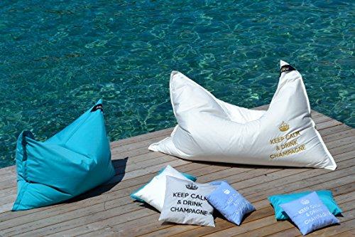 Direkt vom Hersteller: chillisy® Kinder Sitzsack, Loungekissen SUMMERTIME MINI, für Indoor & Outdoor, schwarz (130 x 100 cm)