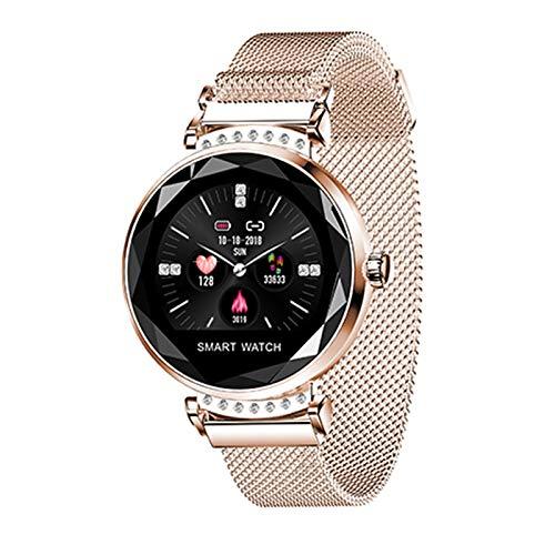 XUENUOS H2 Smart Uhr Schrittzähler Fitness Pulsmesser Smart Armband Tracker Blutdruck Sport Smart Armband Uhr Schrittzähler Anruf und Nachricht Erinnerung Mode Damen Armband (Fußball-countdown-uhr)