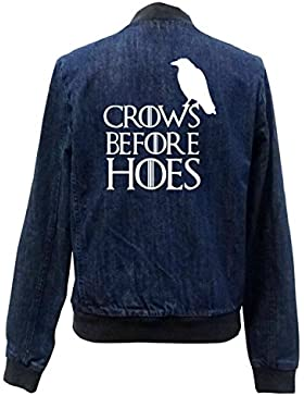Crows Before Hoes Bomber Chaqueta Girls Jeans Certified Freak