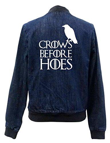 Crows Before Hoes Jeans Bomberjacke Certified Freak-XL