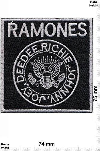 Patch - Ramones - DeeDee - Richie - Johnny - Joey - silver - Punk -Music - MusicPatch - Rock - Chaleco - toppa - applicazione - Ricamato termo-adesivo - Give Away