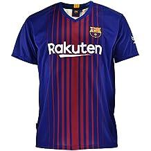 Camiseta 1ª Equipación Replica Oficial FC BARCELONA 2017-2018 Dorsal MESSI  - Tallaje NIÑO JUNIOR 0ec65e0de4f
