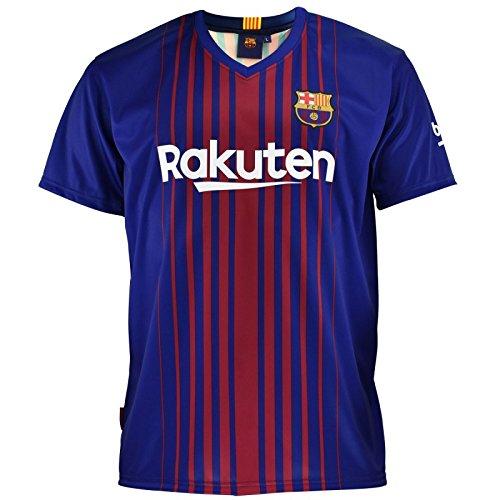 Anima a tu equipo de fútbol con esta camiseta del F.C. Barcelona, réplica oficial del 2017-2018. La camiseta es de manga corta y lleva impreso el número y nombre de Messi en la parte trasera. Talla 6 7 Años.Pesos y medidas:- Peso: 0,40