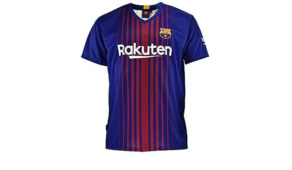 R/éplique officielle du maillot domestique du FC Barcelone 2017 taille pour enfant 2018/avec Messi au dos