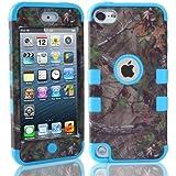 ShopmallHK Motif de la Direction plastique Hard Cover Camo Triple Cas hybride en silicone pour Apple iPod Touch 5 (bleu)