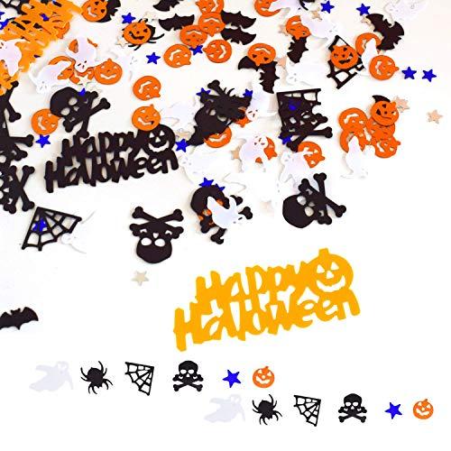 Halloween Konfetti, Metallic Tisch Konfetti Mix Spinnennetz Happy Halloween Kürbis Fledermäuse Totenkopf Geister Konfetti Für Weihnachten, Halloween Nacht, Party Dekorationen