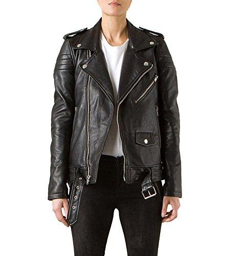 Leather4u LL877  Damen Lederjacke, in Schwarz - 2