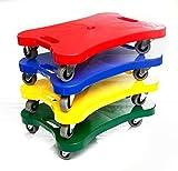 Boje Sport 4er Set Super-Rollbrett für Kinder in den 4 Farben rot, gelb, grün, blau. Die praktischen Griffe geben den Kindern sicheren Halt bei der Benutzung. Die Rollbretter sind bis 75 kg belastbar. - Scooter Board