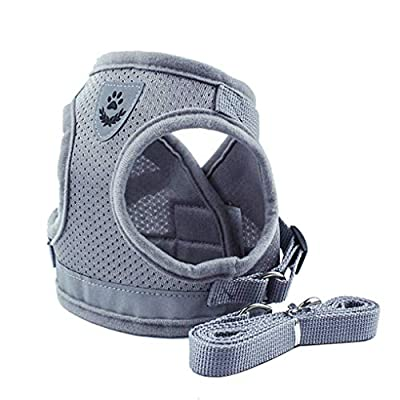 Lorsoul Dog Harness Daily Vest, Training Dog Walking Vest Clothes Puppy Harness Jacket, for Small Meduim Large Dogs - XS/S/M/L/XL, Silver by Lorsoul
