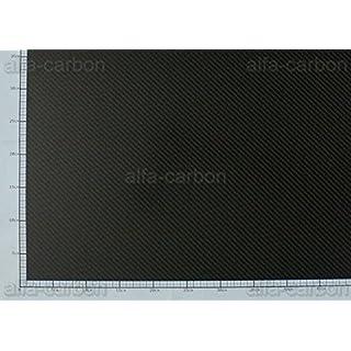 Carbon plate, 0.2 mm x 400 mm x 150 mm, CFRP plate, carbon fibre, satin finish
