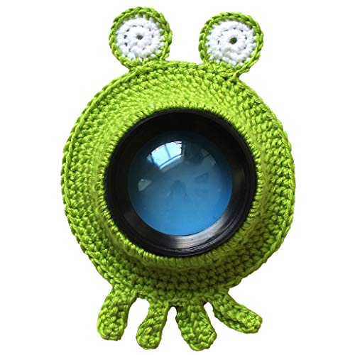 Gankmachine Guía Adorable a Mano Punto Lente de la cámara de cartón Anillo Decorativo Diseño Bebé Apoyo de la Foto muñeca de Juguete