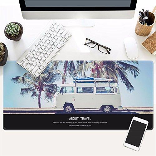 @A Office Juego Mouse Pad Es Muy Grande, Y La Base De Goma Antideslizante Es Compatible Con Ratón Óptico Y Láser Para Cualquier Teclado Y Ratón De Ordenador Portátil,6,400X900Mmx3Mm.