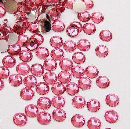 Five Season 1440 pcs Strass à dos plat rond brillant 14 Cut 3 mm --- Rose
