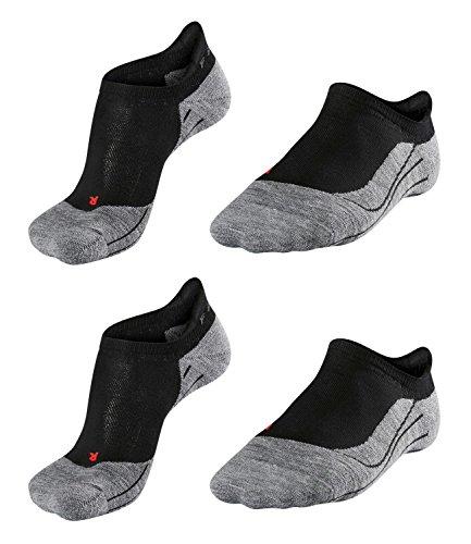 Preisvergleich Produktbild Falke Running Herren RU4 Invisible Sneaker Laufsocken 16707 2 Paar, Farbe:Schwarz;Sockengröße:44-45;Artikel:-3010 black