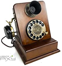 Others Deziine Antique Telephone, Vintage Retro Landline House Home Phone Handset Corded Machine Fashion 60s Classic Dial Set (Model No.1882)