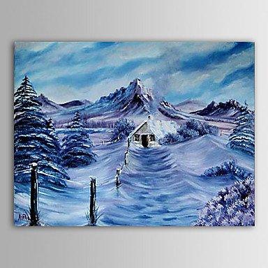 F.Latoo pittura natale nevica vacanza pittura ad olio dono inverno