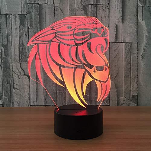 Lion Light Color Night Light reloj táctil para niños Baby Sleep Night Light