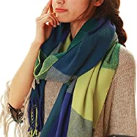 Moda morbido sciarpe inverno caldo Lattice grande scialle sciarpa