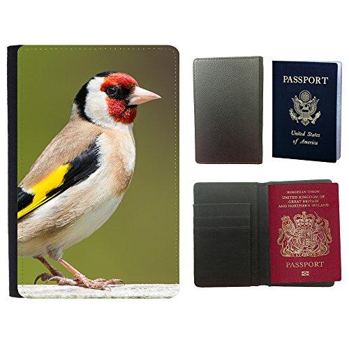 PU Pass Passetui Halter Hülle Schutz // F00021904 Tricoloured Finch Vogel // Universal passport leather cover (Finch Vogel)