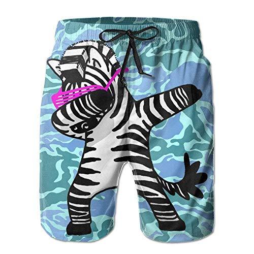 Lands End Jungen Shorts (Junge schnell trocken lustig tupfen Zebra lustig Hip Hop Zebra Strand Shorts Badehose Surf Board Shorts XL)