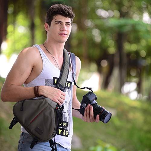 The only good quality Moda Convenient Caden Triangle Shape Tscope Sling Shoulder Cross Digitalkamera Softtasche mit Regenschutz für Canon Nikon Sony K1, 36 x 31 x 15 cm Bella militär-grün Bella Sling
