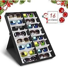 bd222e7d7e amzdeal Caja para Gafas de Sol Caja de Almacenaje Plegable con Tapa para 16  Anteojos,