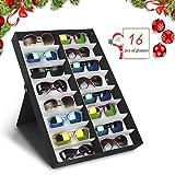 amzdeal Caja para Gafas de Sol para Organizar y Guardar Las Gafas, Joyas y Reflejos