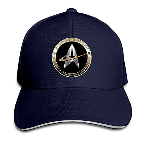 Walter Margaret Hittings NEVA Star Trek 50 Adult Baseball Cap Snapback Hats Hip Hop Flat Hat Navy