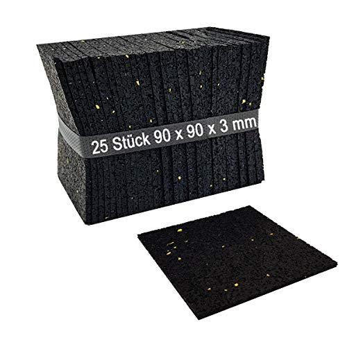 25 Stück 3mm Terrassenpad, Terrassenpads, Gummigranulat, Terrassenbau