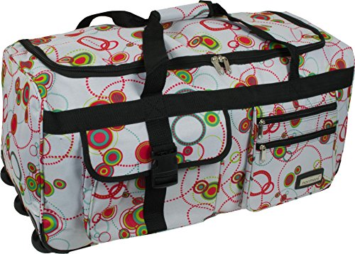 normani Leichte XXL Reisetasche Rollenreisetasche Trolley Sporttasche mit Rollen Farbe Circle