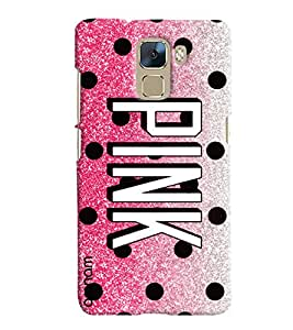 Omnam Pink Printed Designer Back Cover Case For Huawei Honor 7