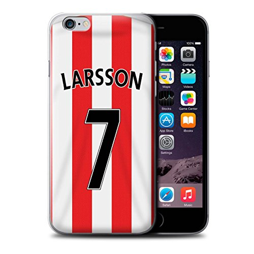 Offiziell Sunderland AFC Hülle / Case für Apple iPhone 6+/Plus 5.5 / Van Aanholt Muster / SAFC Trikot Home 15/16 Kollektion Larsson