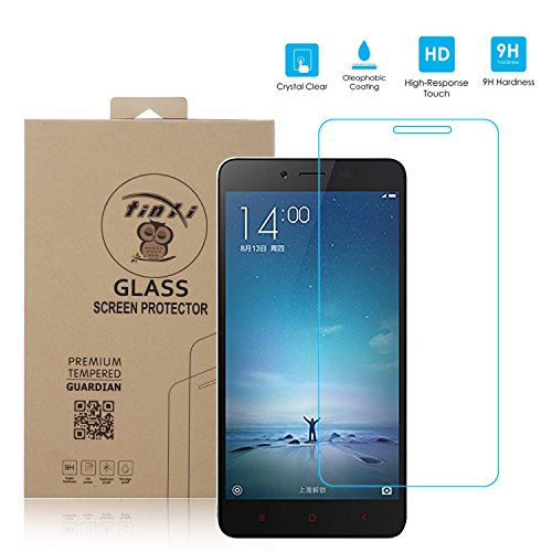 a38d41327ee Tinxi Tempered Glass Screen Protector Film for Xiaomi Redmi Note 2