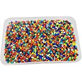Eshoppee 11/0, 200 Gm Jablonex Imported Glass Beads, Seed Beads Pot For Jewellery Making Art And Craft DIY Kit (Multi, 200 Gm)