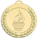 Best Leader Trophies - 70mm Gold Laurel Leader 70 medal with Ribbon Review