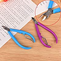 Preisvergleich für 1PCS New Plastic Handle Nail Cuticle Nipper Cutter Clipper Manicure Pedicure Trim Dead Skin Cuticle Tool