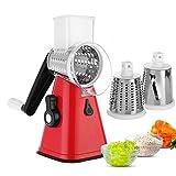 Runde Mandoline Slicer Gemüseschneider Chopper Kartoffel Karottenreibe Slicer mit 3 Edelstahl Klingen Küchenwerkzeug
