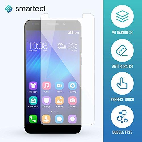 smartect® Panzerglas Displayschutzfolie für Huawei Honor 6 aus gehärtetem Tempered Glass • Gorilla Glass mit Härtegrad 9h • 0,33mm Ultra-Dünn • Abgerundete Kanten (2.5D) • Anti Fingerabdruck