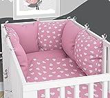 Tour de lit composé de 6coussins avec housses pour lit de bébé - 70x140cm