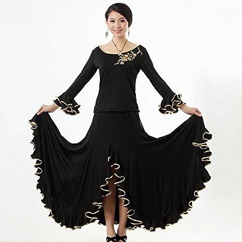 Fox Costume De Danse - ZI&H Women Ballroom Robe à encolure à