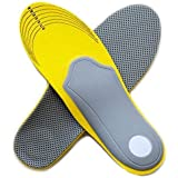 Soft Insoles with Arch Support for Sport Shoes size EU 40-46 by Myshoetree