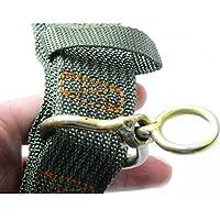 Collier pour Chien Grand - BADALINK Vert Tissu Nylon Chien Double Pin Armée Boucle Laisse Collier 65x4cm