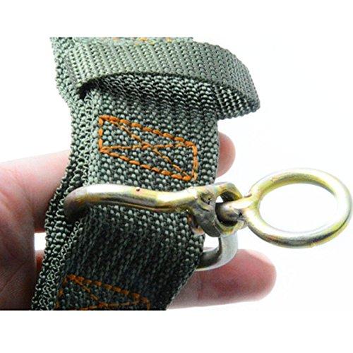 collier pour chien grand badalink vert tissu nylon chien double pin arm e boucle laisse. Black Bedroom Furniture Sets. Home Design Ideas