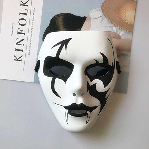 Macxy - 1PCS Partei-Schablonen V für Vendetta Maske Anonymous Guy Fawkes Abendkleid-Erwachsene Kostüm-Zusatz-Partei Cosplay Masken [weiß]