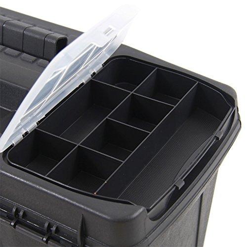 Kunststoff Werkzeugkoffer ERGO Profi 19,5″, 48x26cm Kasten Werzeugkiste Sortimentskasten Werkzeugkasten Anglerkoffer - 8