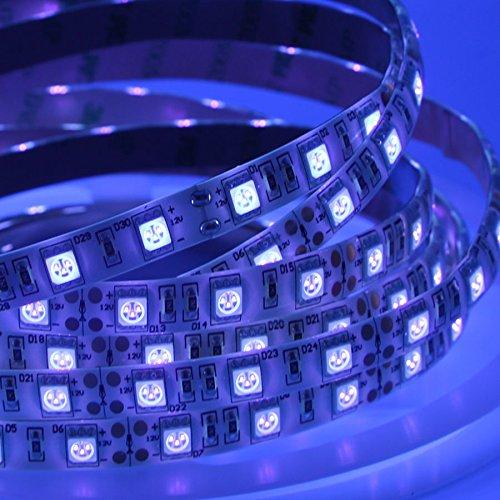 CORST 5m/16.4ft UV Schwarz Lichter SMD5050 395-405nm 300led Ultra Purple LED Lichtleiste DC12V (Weiss - Intensität Die Uv-lampe
