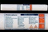 PROFI Maler Abdeckplane 10 my 2 x 50 m Rolle - 100m² Malerplane Schutzplane Plane für Malerarbeiten und Autolackierer