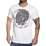 Diesel Herren T-Shirt KARAKUM Irokese -Weiß-L