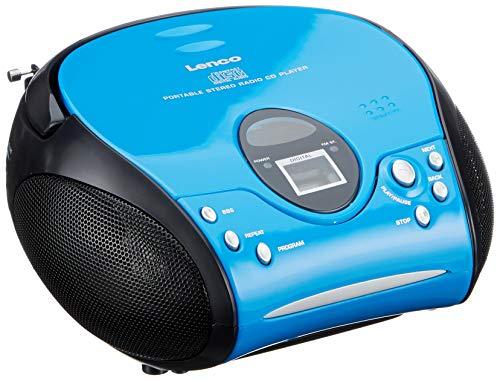 Lenco SCD-24 - Boombox - Tragbar - CD Player - UKW Radio - Blau Schwarz