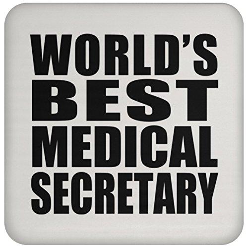 Mundial de mejor médico secretario–Posavasos, posavasos de alto brillo, mejor regalo para cumpleaños, aniversario, de Pascua, día del padre de la madre de san valentín